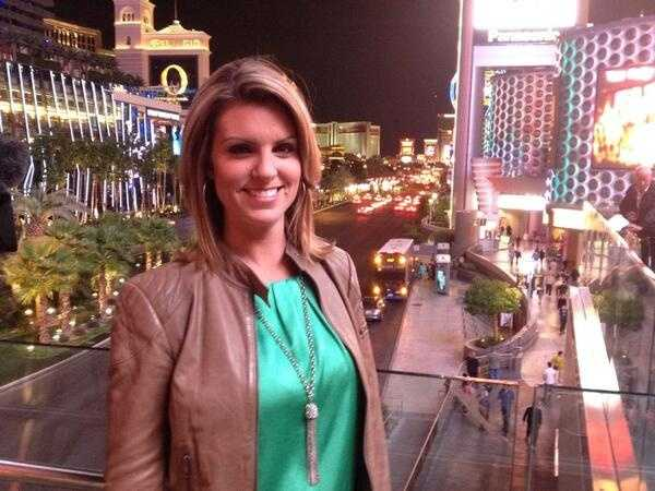 KCRA's Kellie DeMarco in Las Vegas for the Kings-Lakers preseason game.
