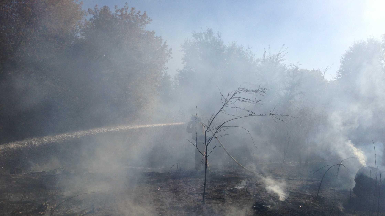 Garden Highway grass fire