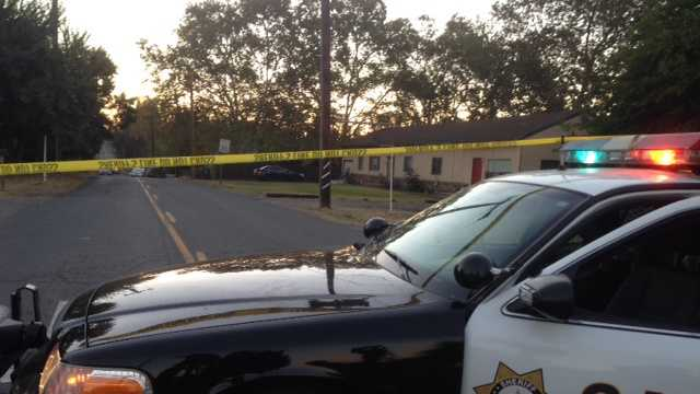 One man was killed when two men walking a dog in Orangevale were shot at Tuesday morning, Sacramento County sheriff's deputies said.