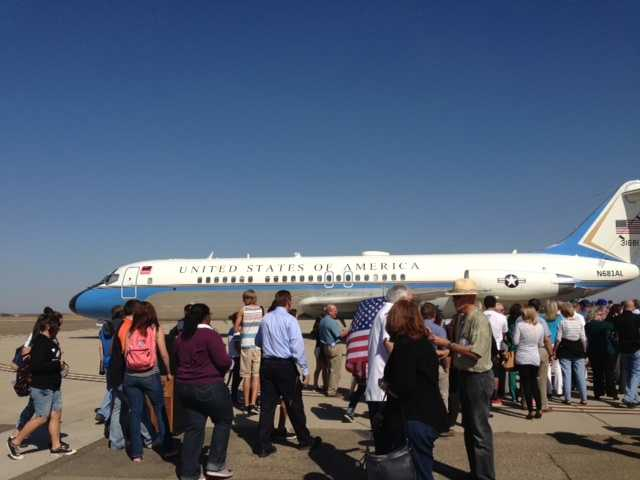 A former Air Force One plane was on display at Castle Air Museum in Atwater. (Oct. 16, 2013)