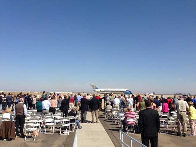 A former Air Force One plane was on display at Castle Air Museum in Atwater.