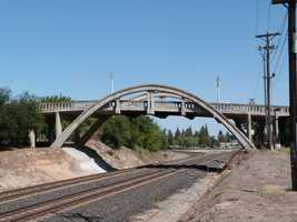 The Sierra Vista Bridge is also known as the Crooked Bridge or the Rainbow Bridge.