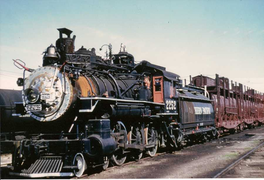 This locomotive was a workhorse, used to fight forest fires in the Sierra Nevada mountain range. Photo is from 1940.