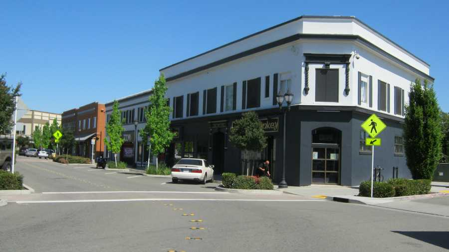 The Barker Hotel building houses a popular nightclub in old town Roseville.