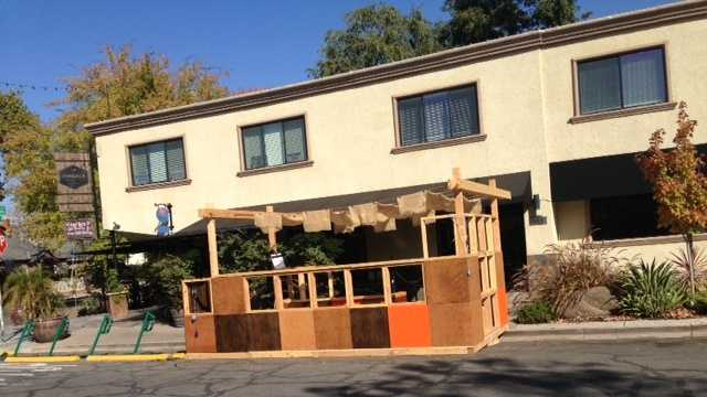 Pangaea's Restaurant in Sacramento supports the project and has even set up a makeshift parklet.