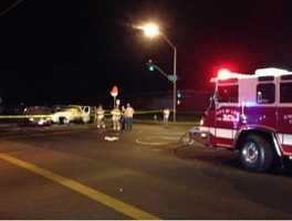 This photo shows the scene of the deadly wreck, near Ham Lane and Vine Street (Oct. 22, 2013).