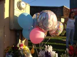 A wide array of flowers, toys and other trinkets were left Wednesday in memory of the Lodi victims.