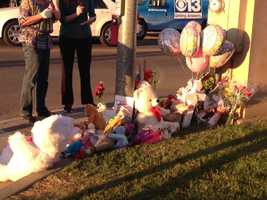 Community members left tokens of remembrance for the victims in Tuesday evening's deadly crash.