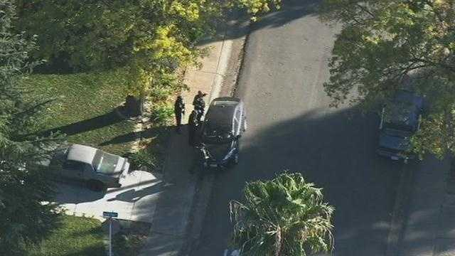 See aerial photos from LiveCopter 3 of the law enforcement response following the shooting of a Immigration Customs Enforcement officer in Roseville.