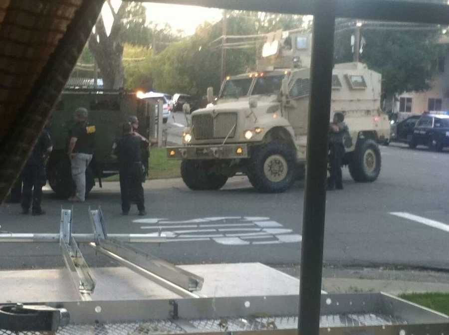 A KCRA Insider took these photos of the standoff in Roseville. (Oct. 25, 2013)