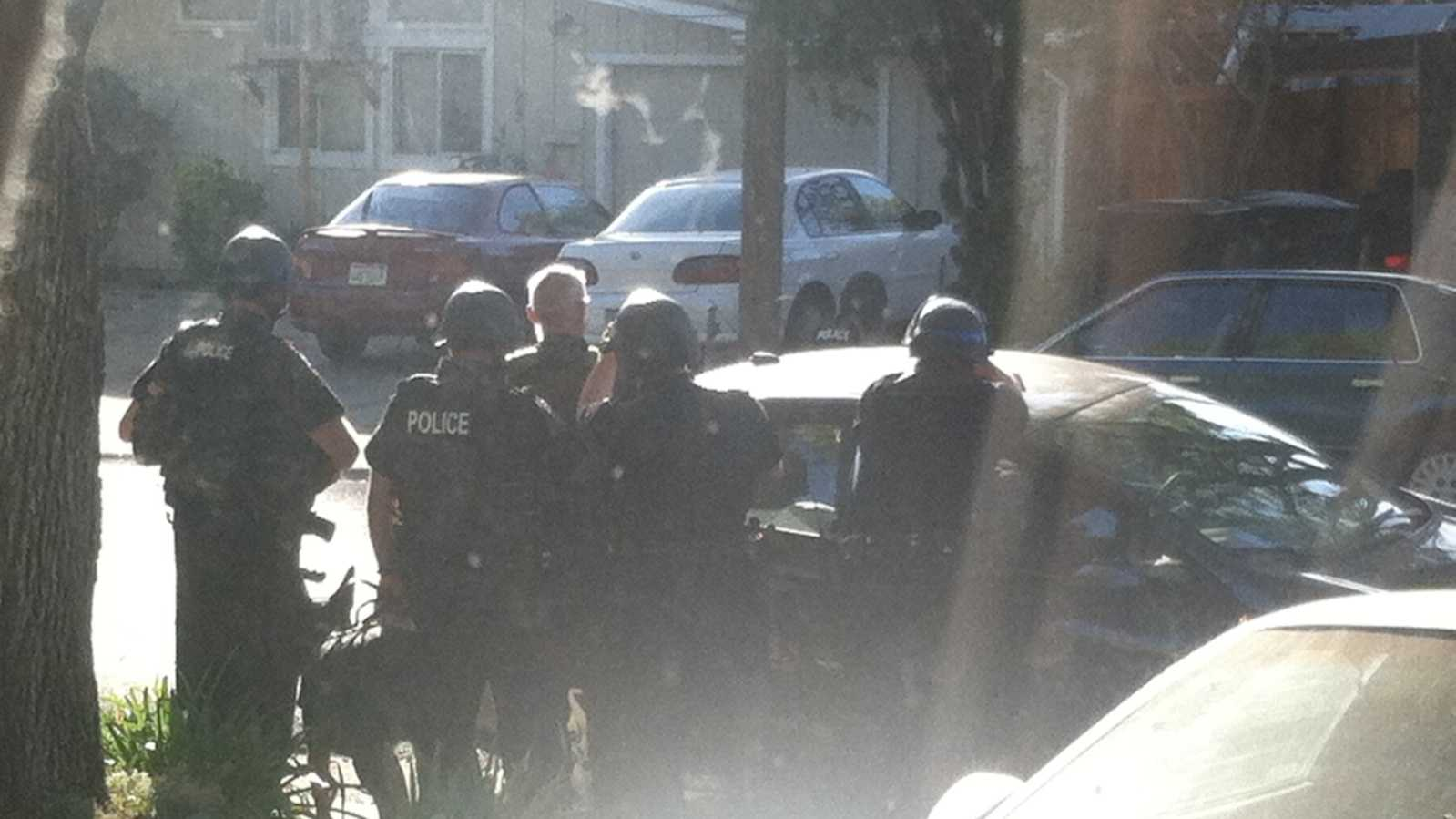 A KCRA Insider took these photos of Friday's standoff in Roseville. (Oct. 25, 2013)