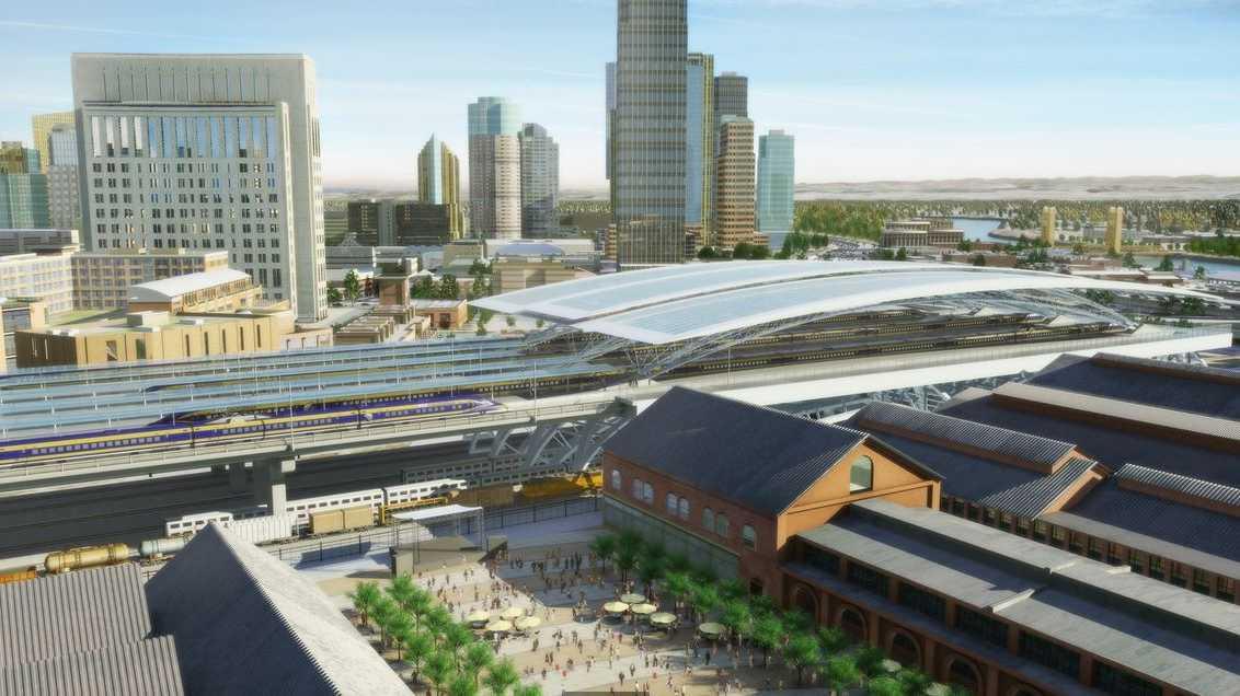 High-speed rail Sacramento station