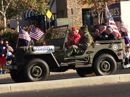 Veterans Day march in Folsom