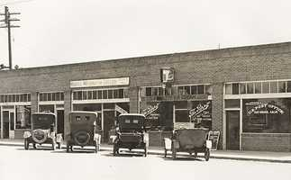 In 1932, the site housed many important establishments, including J. N. Andrews, General Merchandise, Wells Fargo and a post office.