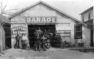 This garage was built in the early 1900s near Bob's Bar on Main Street.