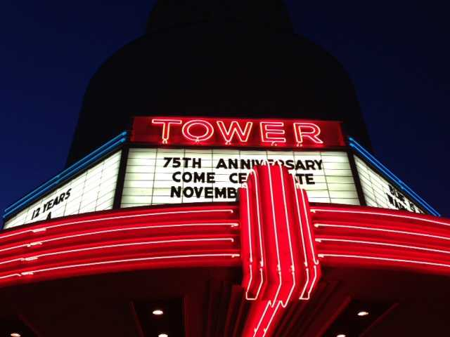 The Tower Theatre held a celebration Monday night for its 75th birthday. (Nov. 11, 2013)