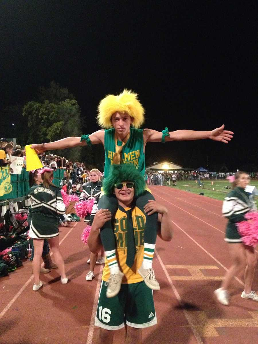 #24 - Hillmen fans at a Placer High School football game really get into the spirit.