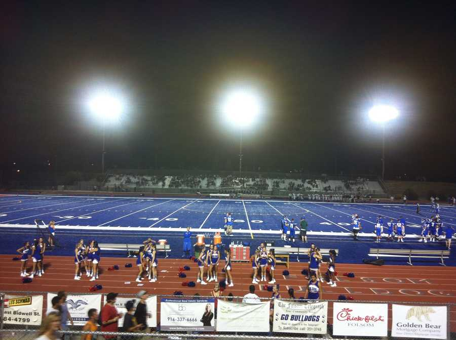 #40 - The Folsom Bulldogs played their first season on the new blue turf under the Friday night lights.