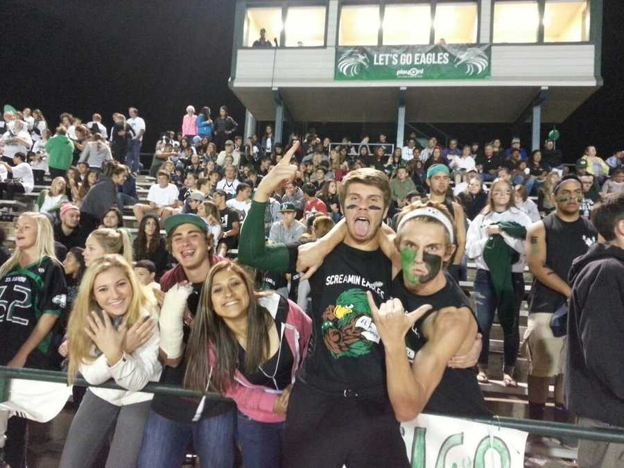 #18 - Fans of the El Camino Screamin' Eagles come out to football games with lots of energy to support their team.