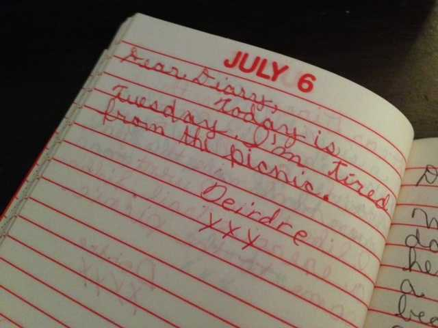 """23.) My favorite part of covering the Olympics is writing my Olympic blog, Deirdre's Diary. Here's a """"Deirdre's Diary"""" entry from fourth grade. Hopefully, you find the 2013 content more compelling."""