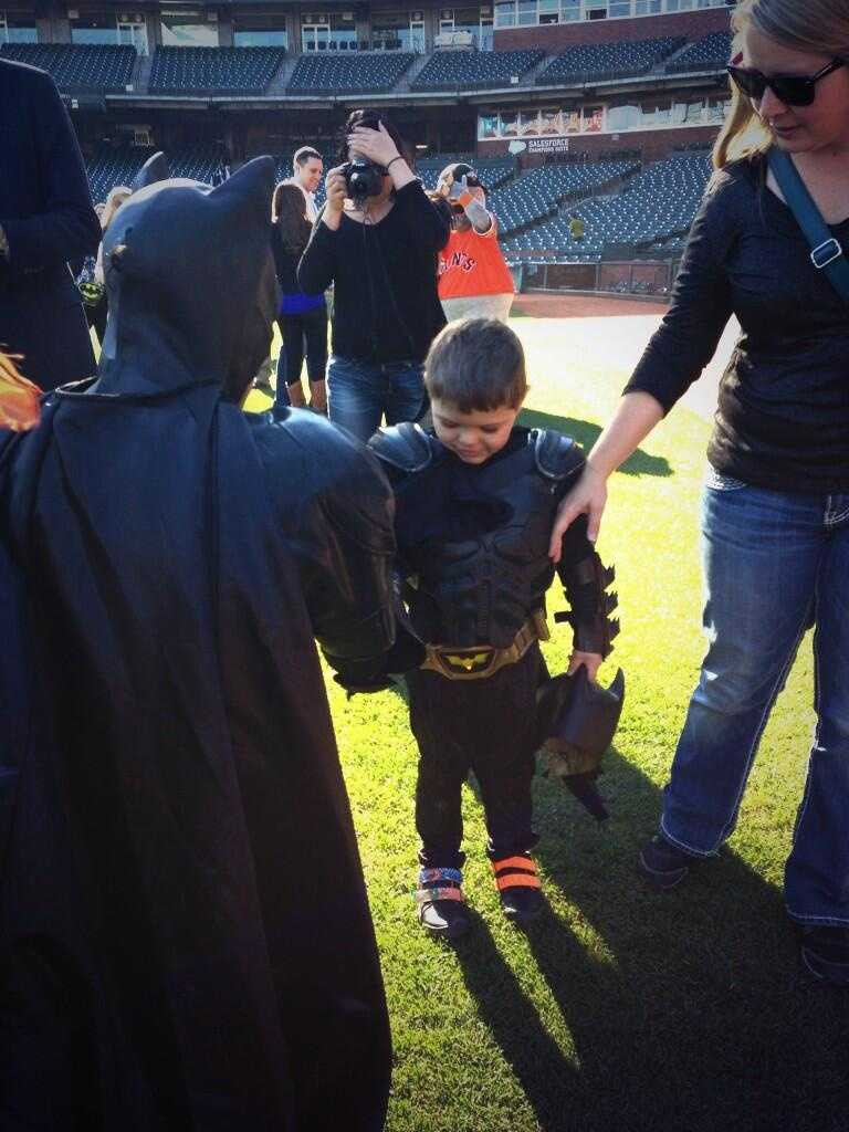 Five-year-old Miles Scott was San Francisco's -- er, Gotham's -- bravest superhero on Friday, thanks to the Make-A-Wish Foundation (Photo courtesy: @SFWish/Twitter).