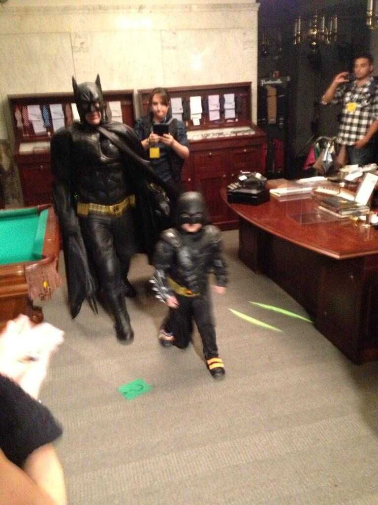 Miles dressed to fit the part, got asked by San Francisco's police chief to save the city and even had a Batmobile (Photo courtesy: @SFWish/Twitter).
