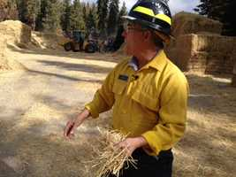 Firefighters were able to complete 98 percent of the work necessary to prevent a catastrophic mudslide at the site of the year's Rim Fire, before the first significant rainfall of the season. (Nov. 19, 2013)