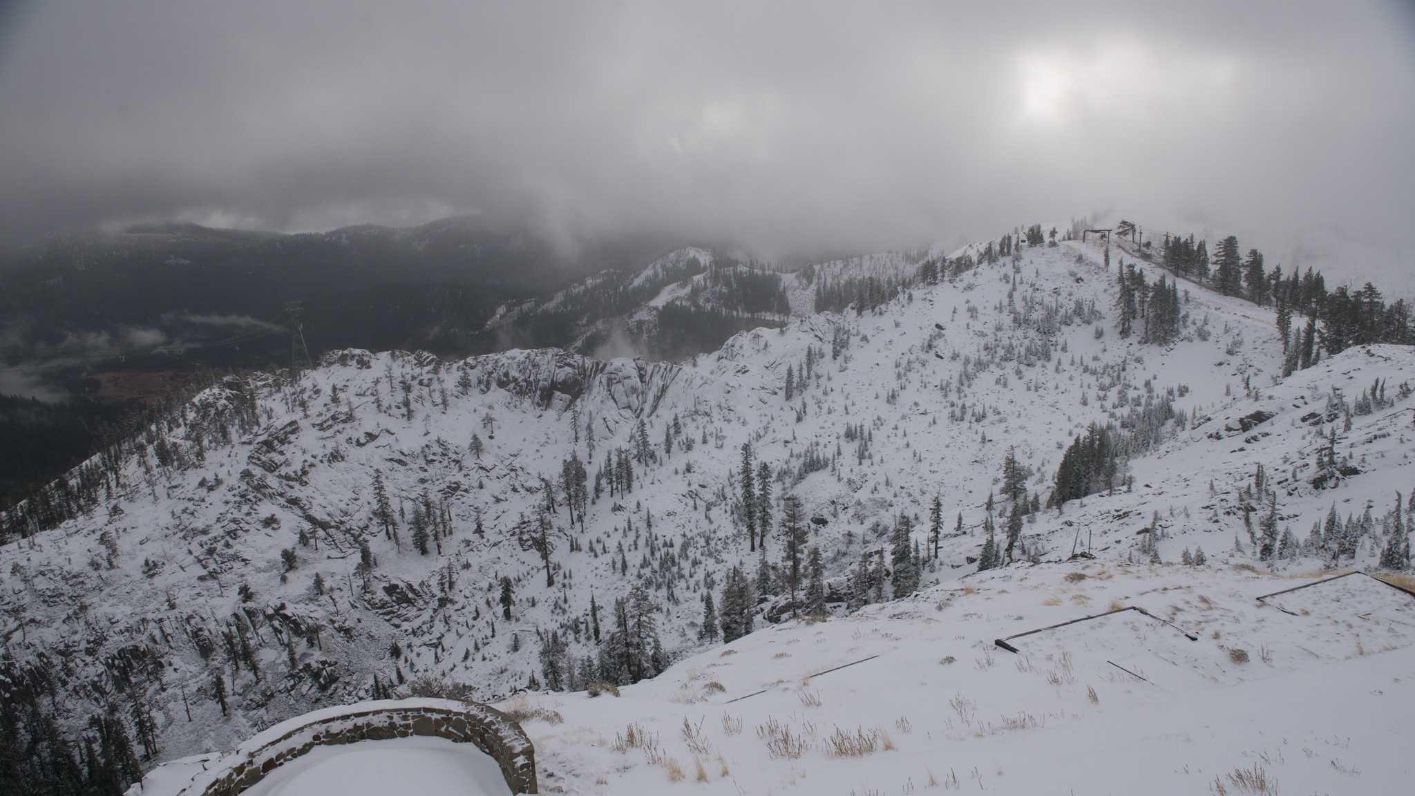 A snapshot of Squaw Valley Resort after November snowfall. (Nov. 20, 2013)