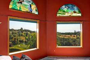 The home offers spectacular views of the scenic landscapes.