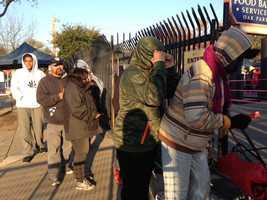The Sacramento Food Bank distributes 7,000-plus turkeys to families in need Monday morning.