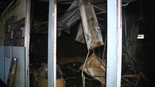 More than a dozen classrooms at Sonora Elementary School were damaged in a trash-can fire.