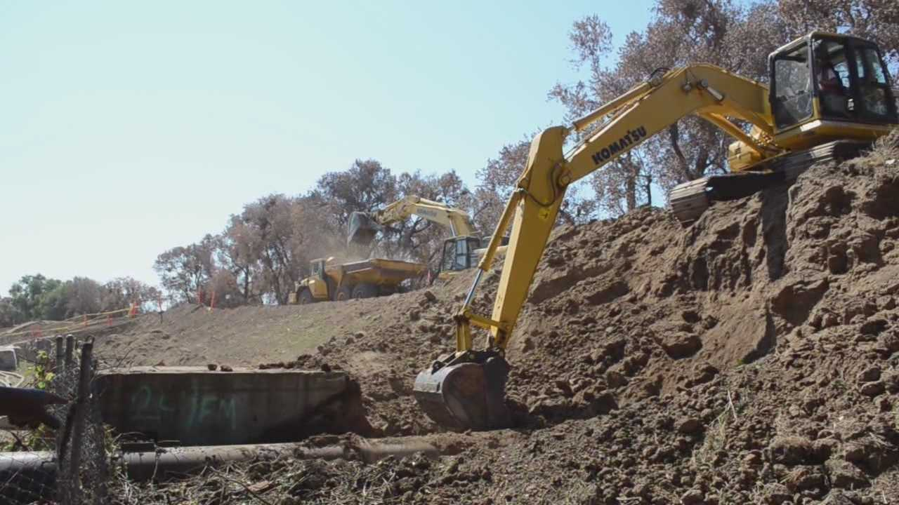 The US Army Corps of Engineers is finishing 3 levee projects along the American River that will secure vulnerable areas.