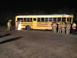 If you find yourself in trouble on the roadway, first-responders and firefighters likely will be the ones trying to help you. Also Tuesday, a volunteer fire department in the Modesto area trained for a worst-case scenario with the help of a school system.