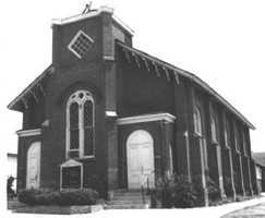 The first Methodist Church, currently known as the Landmark Baptist Church, was built in 1860. The building also housed the first high school in Folsom between 1922 and 1924.