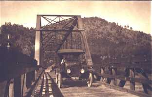 Folsom's steel truss bridge was built in 1893 and was for people, cattle and small vehicles to get across the American River.