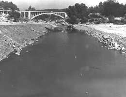 The Rainbow Bridge, pictured here in 1955, opened in 1917 to accommodate vehicles of all sizes.