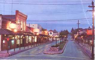 Sutter Street and the area known as historic Folsom kept the mining town feel for residents and visitors in 1968.