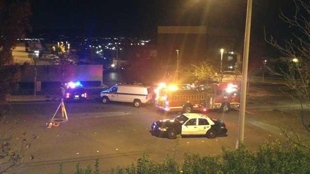 Paul Walker crash scene