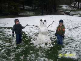 You can build a snowman.
