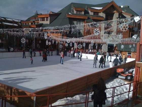 You can go ice skating with the family.
