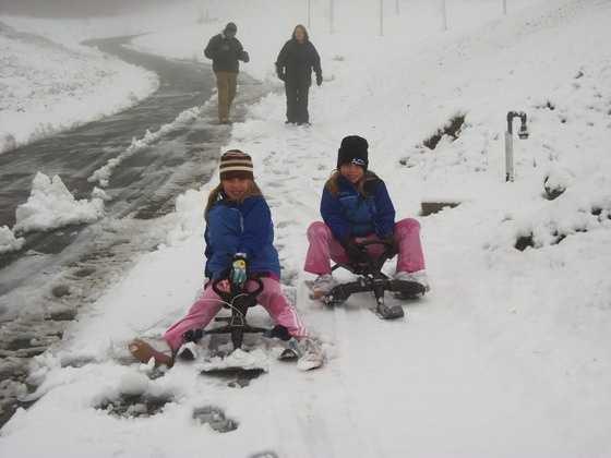 You can go sledding!