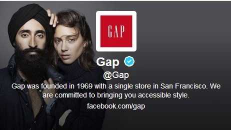 A recent advertising campaign for Gap features a woman touching a Sikh man's turban.