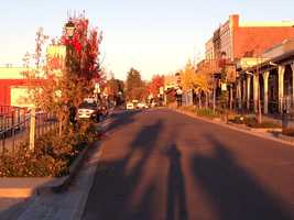 A few years back, the median on Sutter Street was removed to resemble the original look of the historic road.