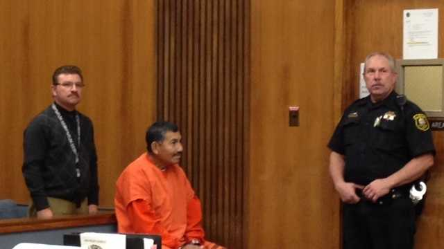 Genaro Olaguez Rendon in court Thursday (Dec. 5, 2013)