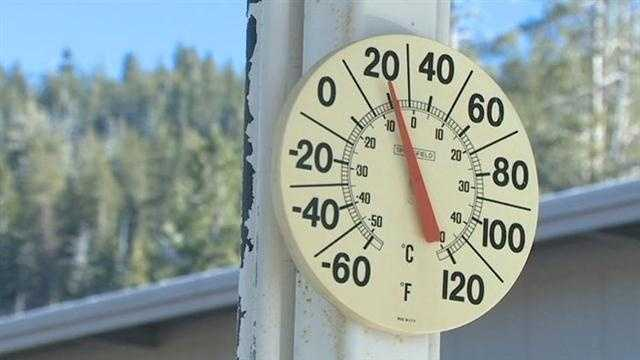 Cold temperatures Northern California