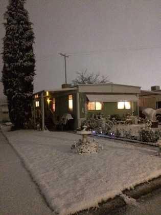 A photo taken of snowfall in Auburn. (Dec. 7, 2013)