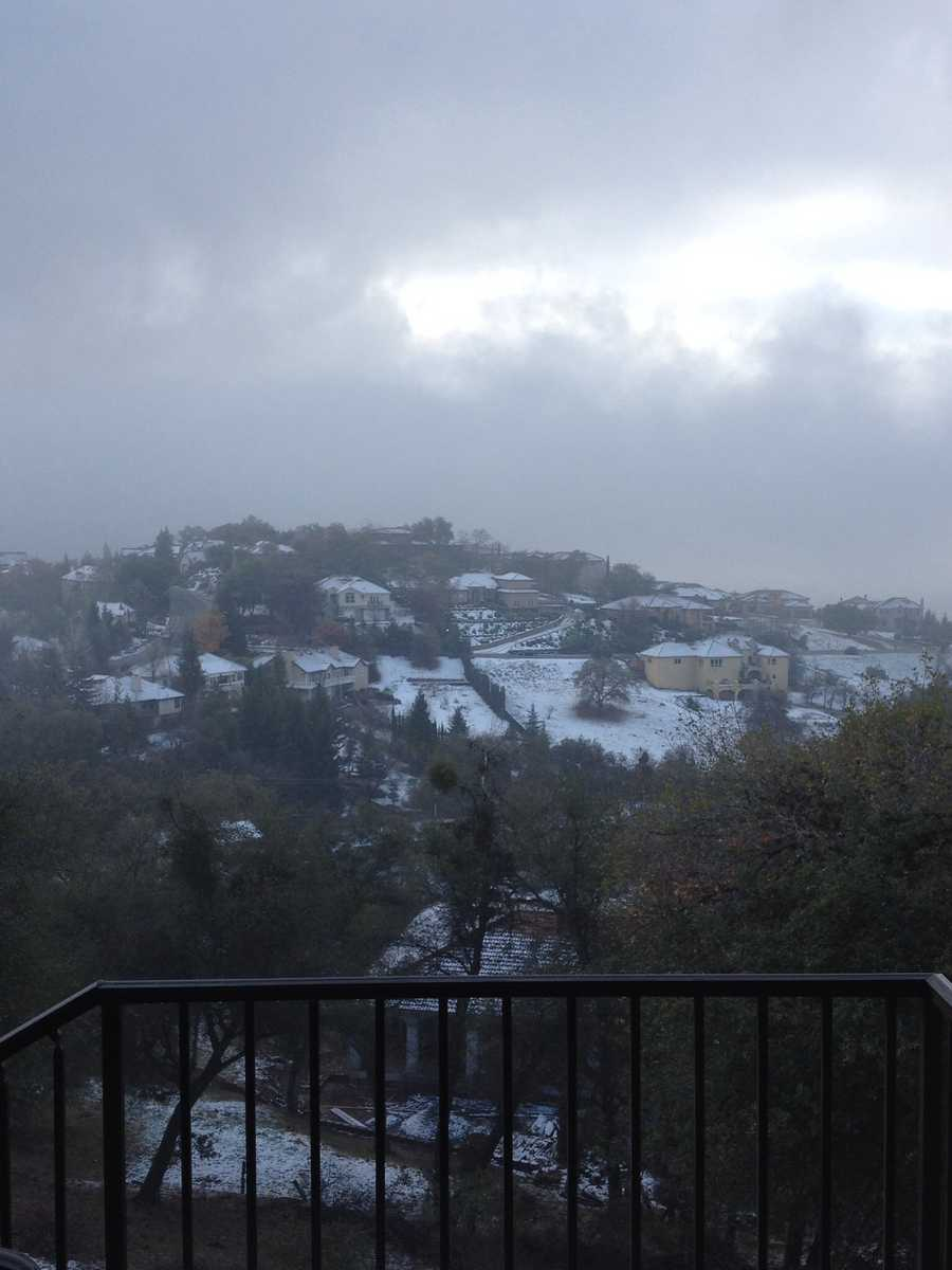 Auburn snow with a view. (Dec. 7, 2013)