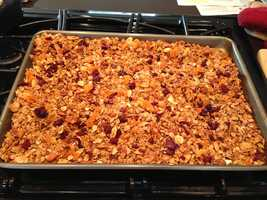 1. I love to bake and create (or tweak) recipes. Here's my homemade granola.