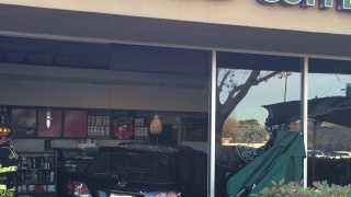 Eight people were injured when a vehicle crashed into a Starbucks in Folsom Tuesday afternoon, Folsom police said.