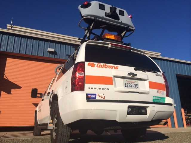 The vehicle is equipped with two scanning lasers, seven high-resolution cameras and highly accurate GPS systems.